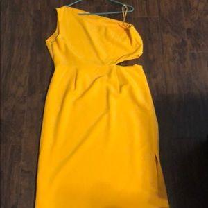 Dress, one shoulder, size 14, worn once